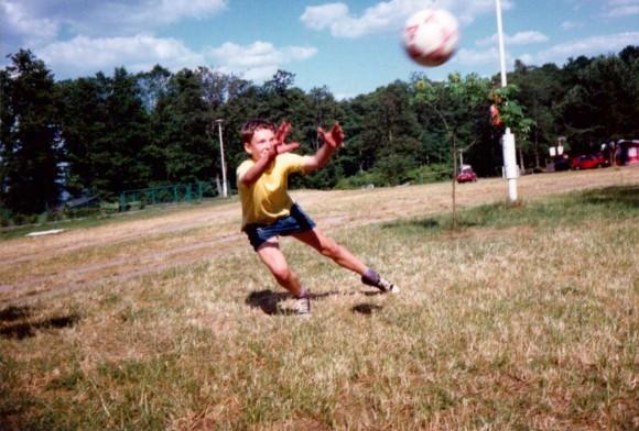 Ja w 1994 roku. Sasek Wielki, lipiec 94 r.